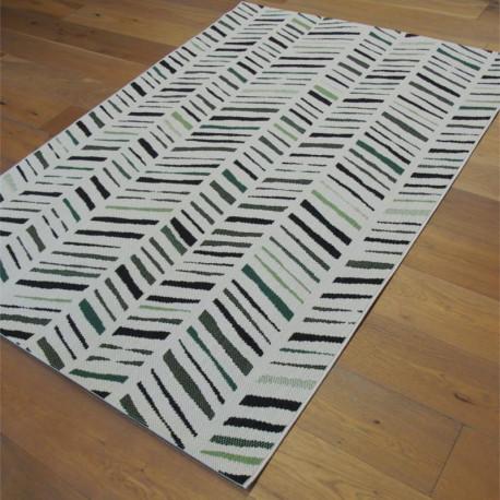 Tapis corde EXOTIC - tissage écru, vert et noir - STAR - 140x200cm