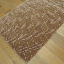 Tapis GEO cappuccino, motif géometrique écru et cappucino - 120x170cm - ELLE - BALTA