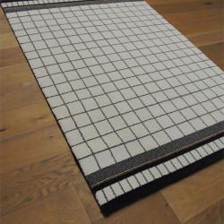 Tapis moderne quadrillé écru et noir - 140x200cm - ELLE - BALTA