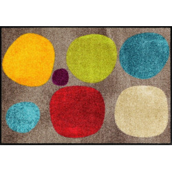 Tapis de propreté - paillasson Broken Dots colourful - EFIA