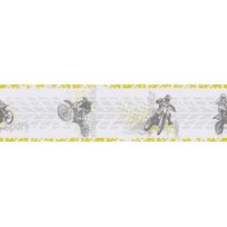 Frise papier peint Motocross vert - Only Boys - Caselio