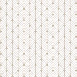 Papier peint MISTINGUETT écru et beige - SCARLETT - Caselio