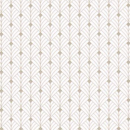Papier peint Mistinguett écru et beige - SCARLETT - Caselio - SRL100430110