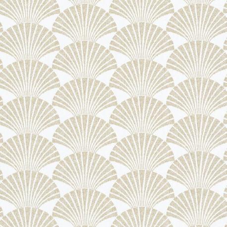 Papier peint PEARL blanc et doré - SCARLETT - Caselio