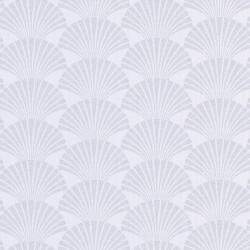 Papier peint PEARL blanc et argenté - SCARLETT - Caselio
