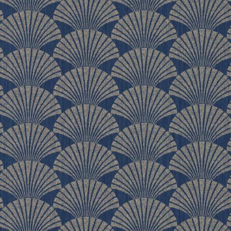 Papier peint PEARL bleu nuit et or - SCARLETT - Caselio