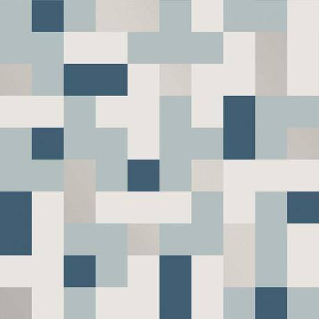 Papier peint ALBY bleu - TERENCE CONRAN- LUTÈCE