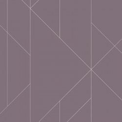 Papier peint TORPA violet, or- TERENCE CONRAN- LUTÈCE