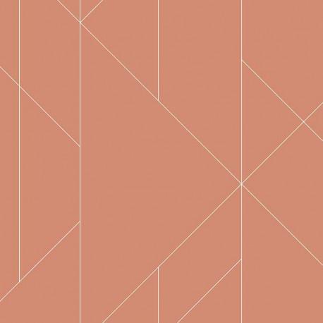 Papier peint TORPA corail- TERENCE CONRAN- LUTÈCE