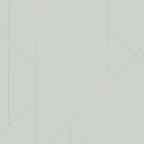 Papier peint TORPA vert amande- TERENCE CONRAN- LUTÈCE