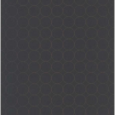 Papier peint intissé DISQUES noir Collection VISION - Casadeco