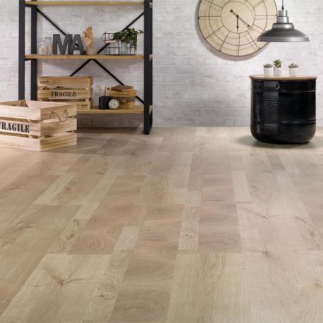 ALSAPAN - Lames stratifiées à clipser Solid 5G - Patchwork bois clair - Inside 540