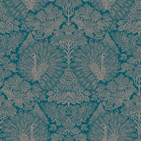 Papier peint intissé Exotique - Paons bleu - ESCAPADE Ugepa