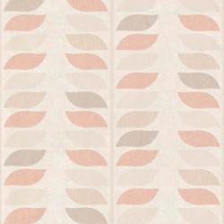 Papier peint à motif Tige rose et taupe - Collection INSPIRATION WALL - GRANDECO
