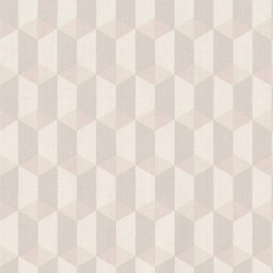Papier peint à motif Cubes beige gris - Collection INSPIRATION WALL - GRANDECO