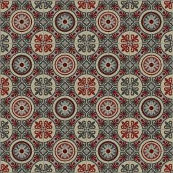 Sol vinyle EMOTION carreaux de ciment rouge - Largeur 4M - Lagos 491M - Plaza Beauflor