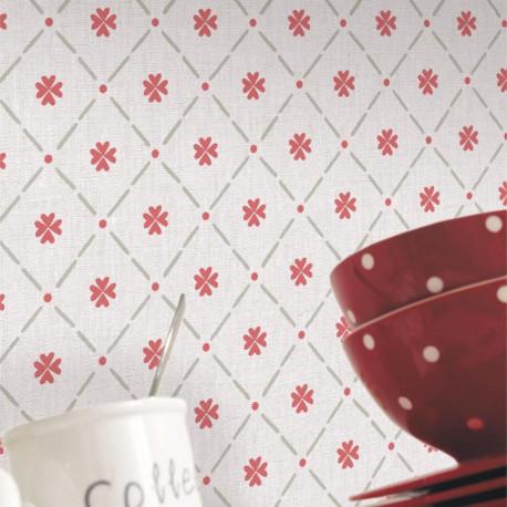 Papier peint Cocotte rouge - Au bistrot d'Alice - Caselio