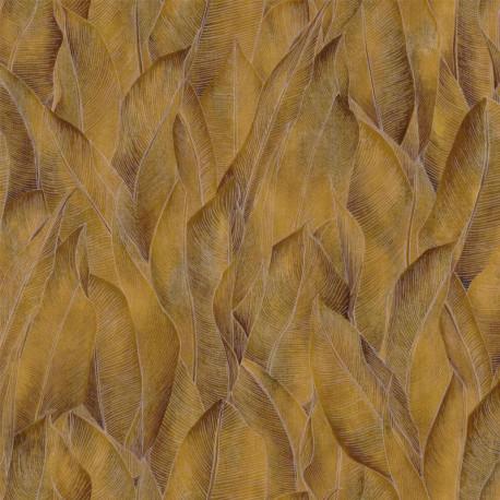 Papier peint vinyle sur intissé AMAZONE pollen - Collection RIO MADEIRA - CASAMANCE