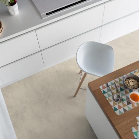 Revêtement PVC - Largeur 4m - DUNE white béton marbré beige Primetex Gerflor