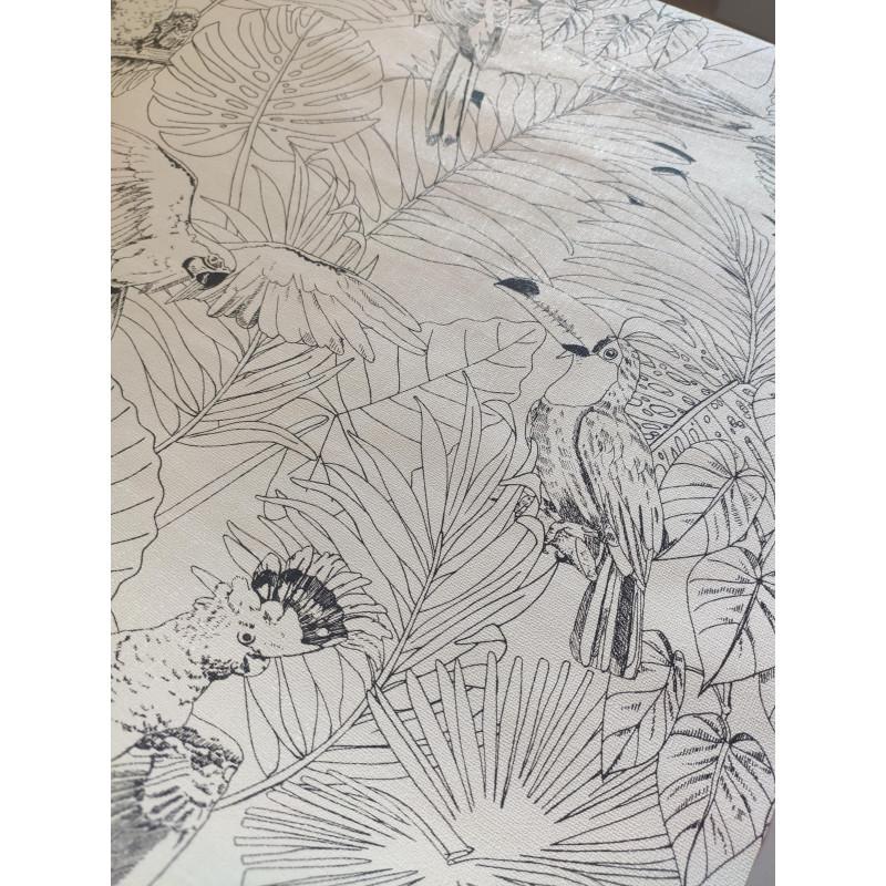 Papier Peint Madagascar Tropical Dessins Noir Et Blanc Rasch