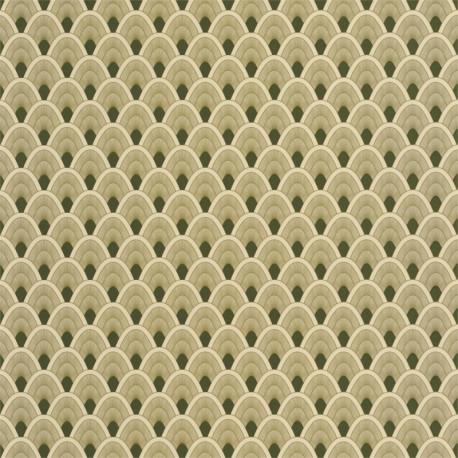 Papier peint Mayotte vert et doré - L'ODYSSEE - Caselio OYS101457212