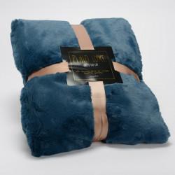 Plaid Luxe bleu nuit tout doux - 130x170cm - Amadeus