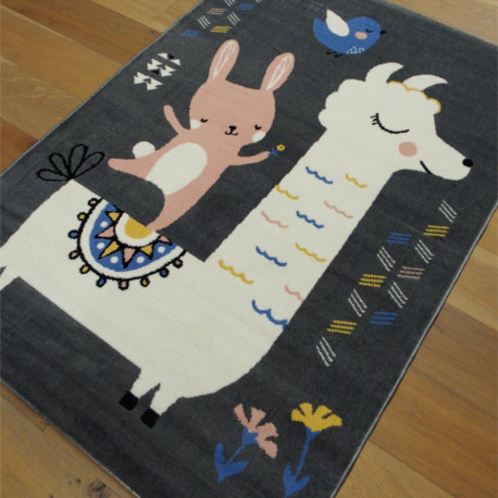Tapis enfant LAMA gris - 120x170cm - FLASH
