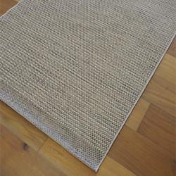 Tapis corde tissé Faux Uni beige naturel - 120x170cm - INDY