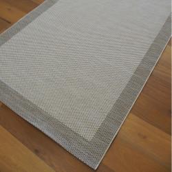 Tapis tissé à plat Bordure écru - 140x200cm - PRISMA