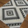 Tapis corde et shaggy Ethnique écru et noir - 160x230cm - RITUAL