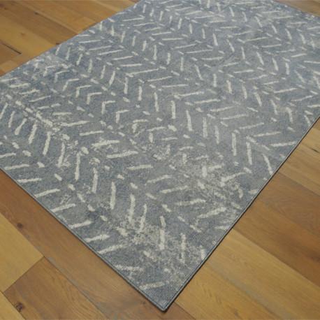 Tapis tout doux FLY gris foncé à motif chevrons ethniques - 160x230cm