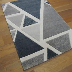 Tapis moderne Triangles gris et bleu - 120x170cm - Shuffle - BALTA