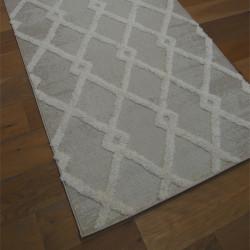 Tapis corde et shaggy Berbère écru et taupe clair - 120x170cm - RITUAL