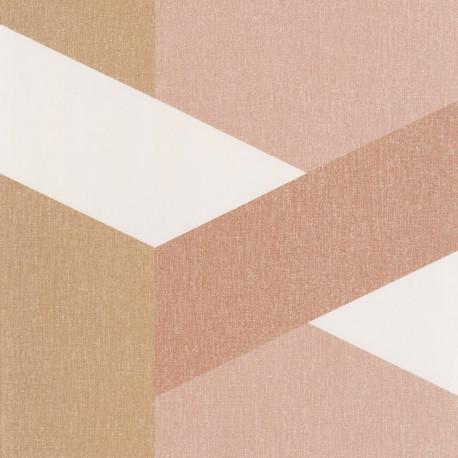 Papier peint Twist terracota rose doré - MOOVE - Caselio MVE101352118