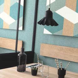 Papier peint Twist vert d'eau, vert émeraude doré - MOOVE - Caselio MVE101357637