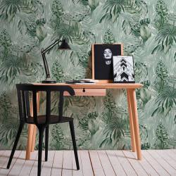 Papier peint Jungle palmes blanc  vert  - Greenery - AS CREATION