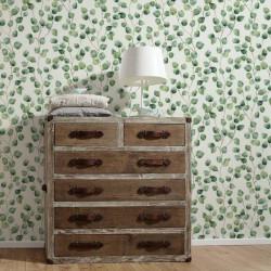 Papier peint Floral blanc vert  - Greenery - AS CREATION