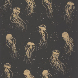 Papier peint Jellyfish Dance Or Noir -MOONLIGHT- Caselio MLG101042095