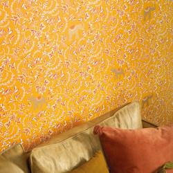 Papier peint Wisdom ocre terracota doré -MYSTERY- Caselio MYY101592900