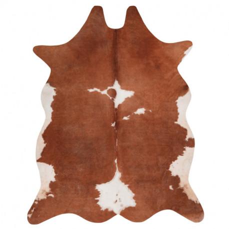 Tapis imitation peau de vache marron - peau de bête Toledo 195