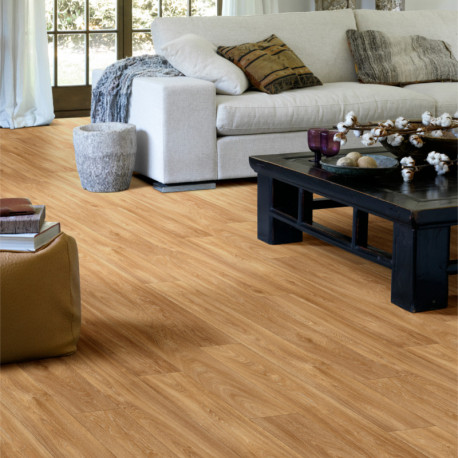 Sol vinyle parquet chêne naturel - Inspire Havanna oak - largeur 4M - Beauflor
