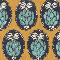 Papier peint Pina jaune -CUBA- Casadeco CBBA84352323