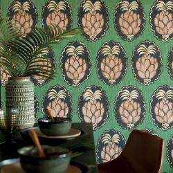Papier peint Pina vert -CUBA- Casadeco CBBA84357434