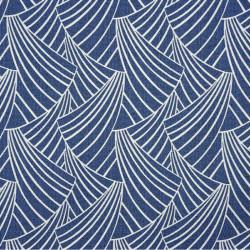 Rideau à œillets motif bleu marine - ARDECO - Linder