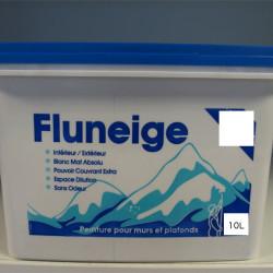 Peinture acrylique blanche pour murs et plafonds - Mat - Fluneige 10L