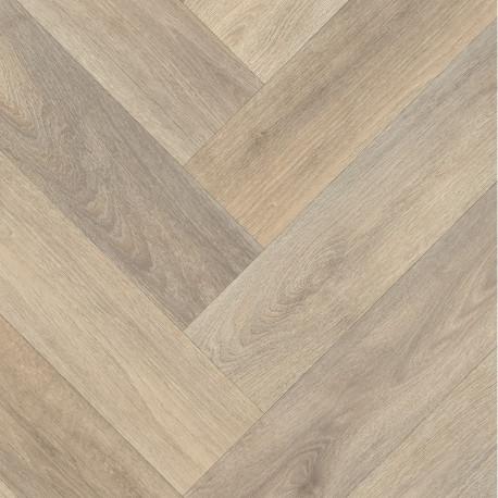 Revêtement PVC chevrons bois naturel - Largeur 4m - Patagonia 556- IVC