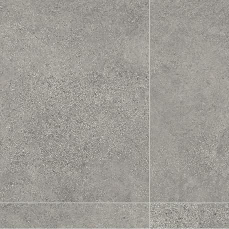 Revêtement PVC carrelage béton gris - Largeur 4m - Tempesta 596 - IVC