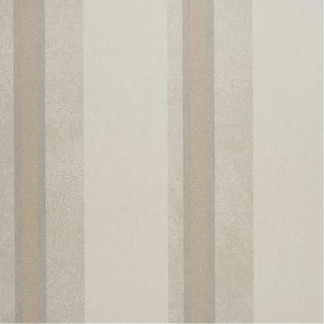 Papier peint intissé SCANDAL rayures gris clair et beige - Collection DANDY - CASAMANCE