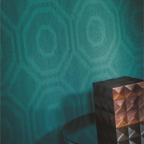 Papier peint intissé TANGRAM bleu canard - Collection ABSTRACT - CASAMANCE