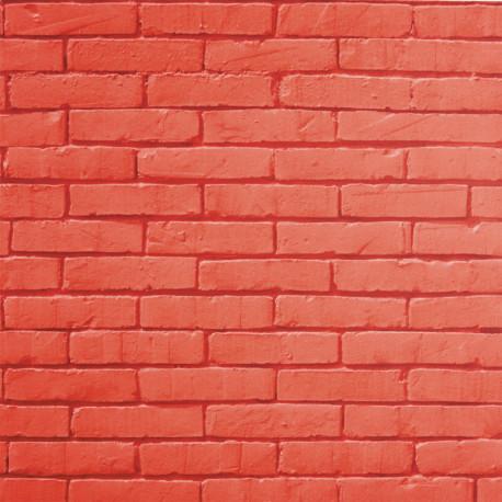Papier peint BRICK WALL rouge - LIFE - CASELIO